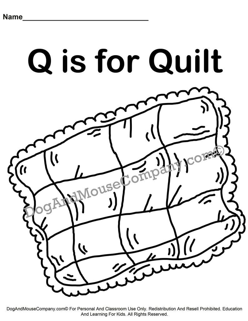 Q Is For Quilt Learn Your Abc S Coloring Page Printable Digital Download By Dog And Mouse Company Alphabet Letter Q Preschool Abc Coloring Pages Abc Coloring Learning The Alphabet