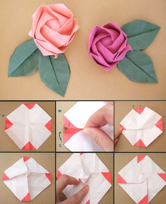papierfaltkunst origami rose papier pinterest origami origami rose und origami tutorial. Black Bedroom Furniture Sets. Home Design Ideas