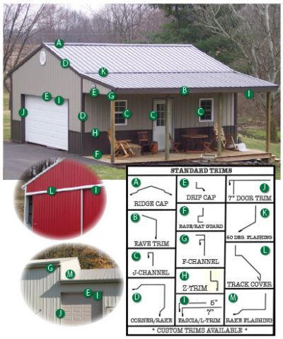 Pin By Darell On For The Home Metal Pole Barns Pole Barn Sizes