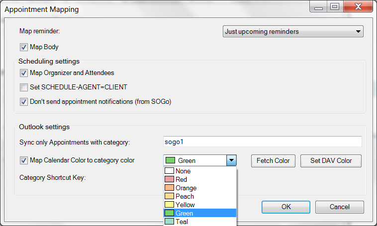 CalDav Synchronizer This Outlook Plugin syncs events, tasks, and contacts between servers.