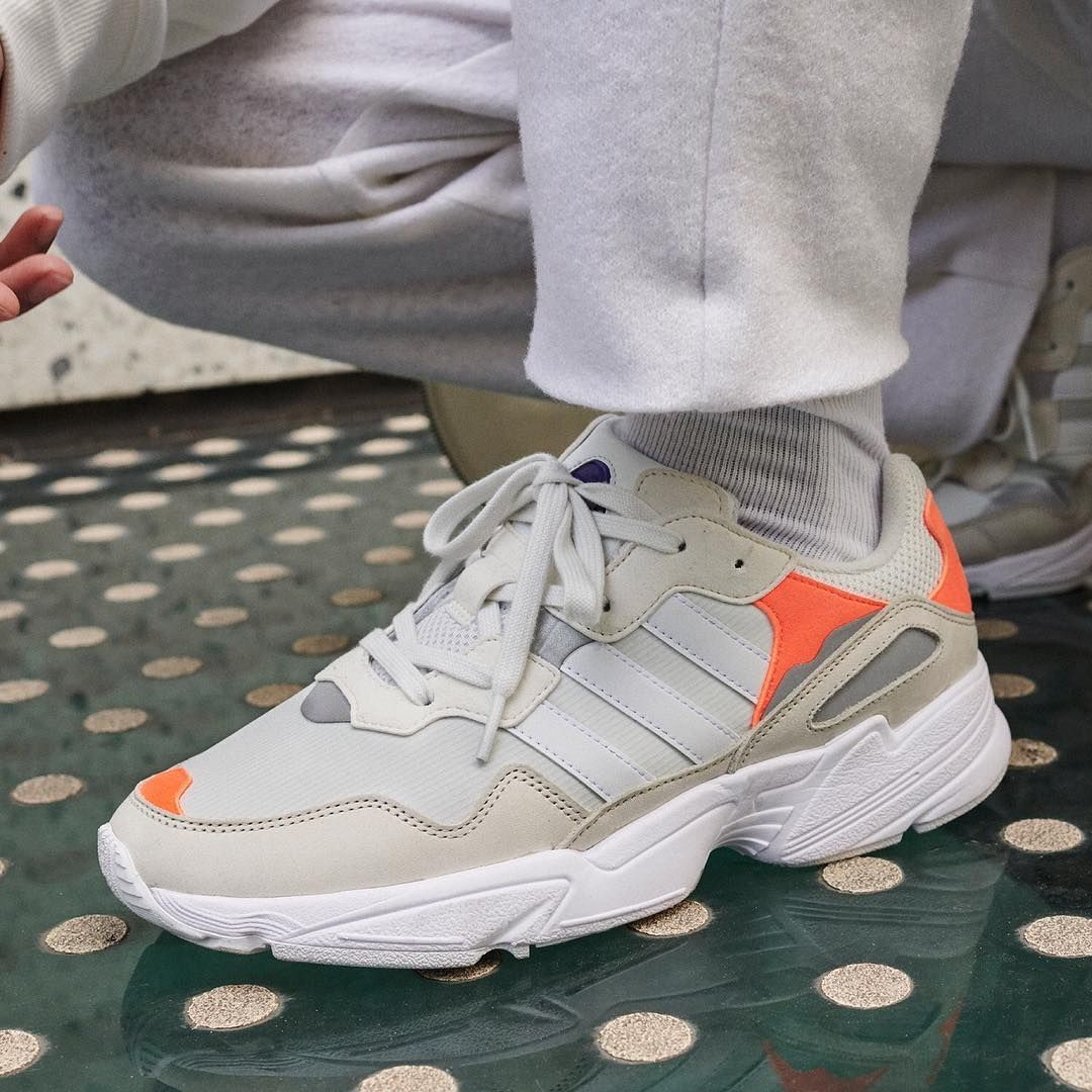 wholesale dealer 7e47d 3e7c2 Retro vibes through and through in the new adidas Yung 96. This white and  orange colorway is dropping later this month!For full release details, ...