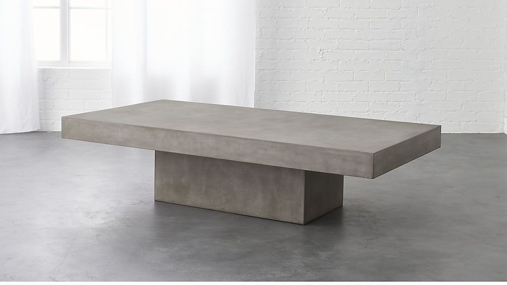 Element Rectangular Grey Concrete Coffee Table Cb2 Coffee