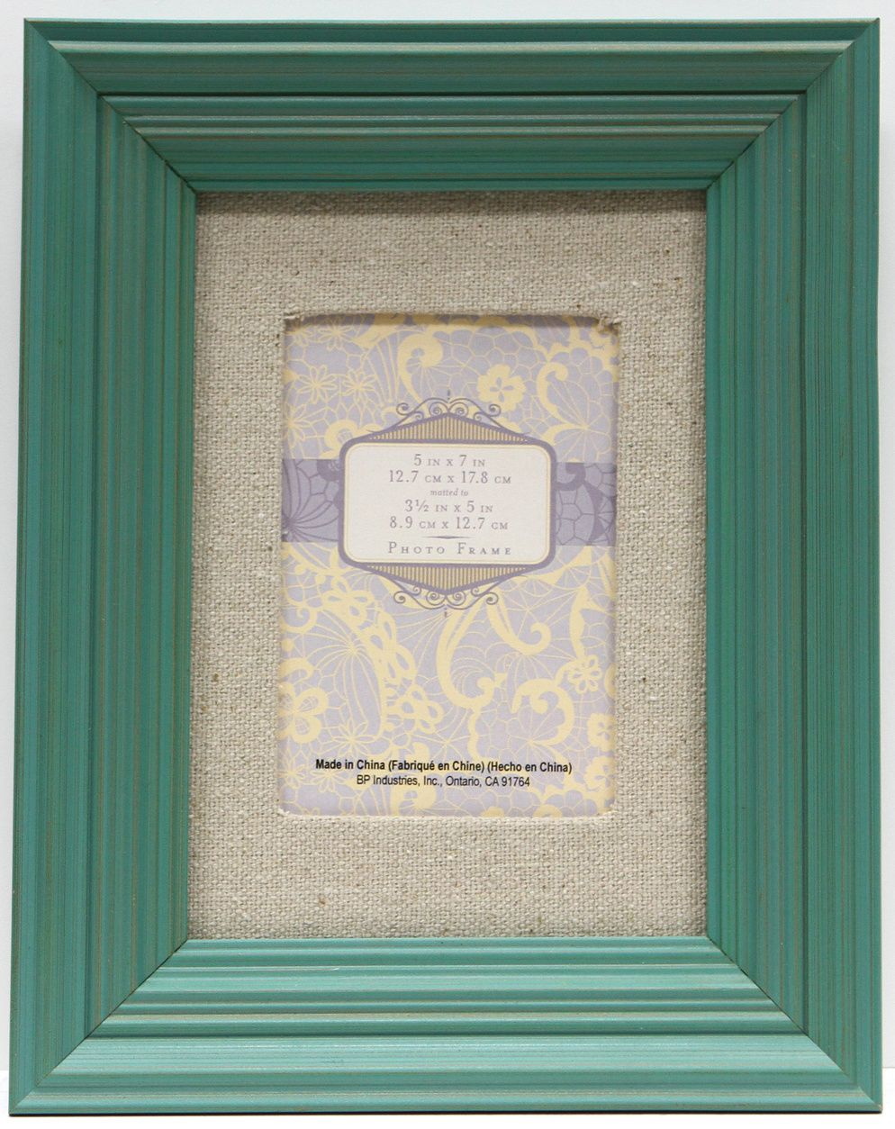 5x7 Matted Step Bright Teal Frame Home Decor Holiday Frames