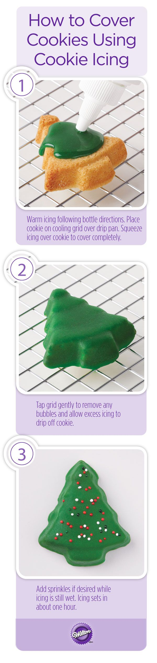 how to make sugar cookie icing shiny