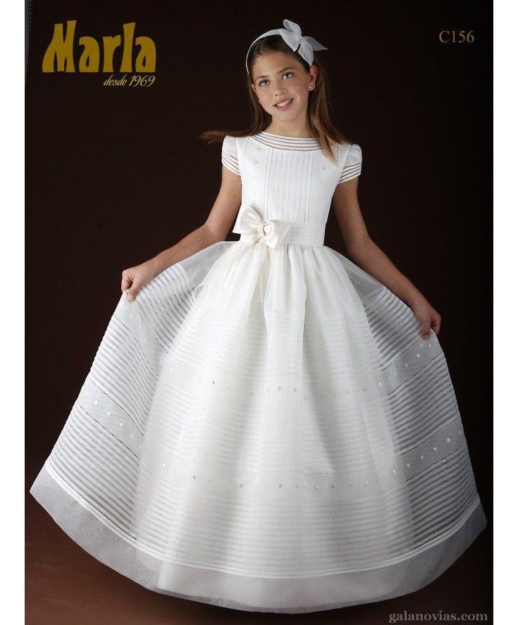 e2e30589b Vestido de Comunión C156 Vestidos De Primera Comunión