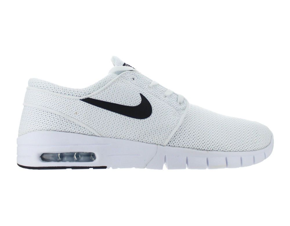 hot sale online 14f9e 4809c Nike SB Stefan Janoski Max Skateboarding Shoes Mens 7.5 White Black 631303  100  Nike  Skateboarding