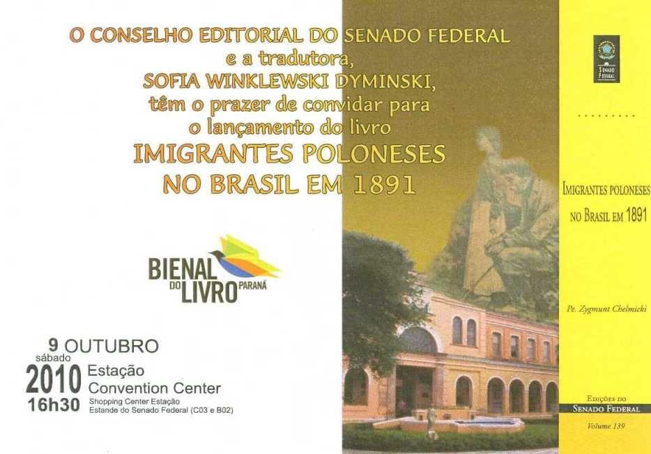 Livro Imigrantes Poloneses no Brasil em 1891.
