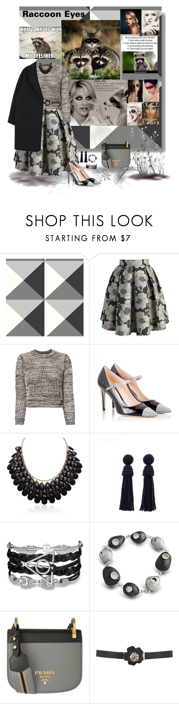 """""""Makeup ideas and an outfit to match"""" by deborah-518 ❤ liked on Polyvore featuring Calvin Klein, Chicwish, 10 Crosby Derek Lam, Fratelli Karida, Adoriana and Prada"""