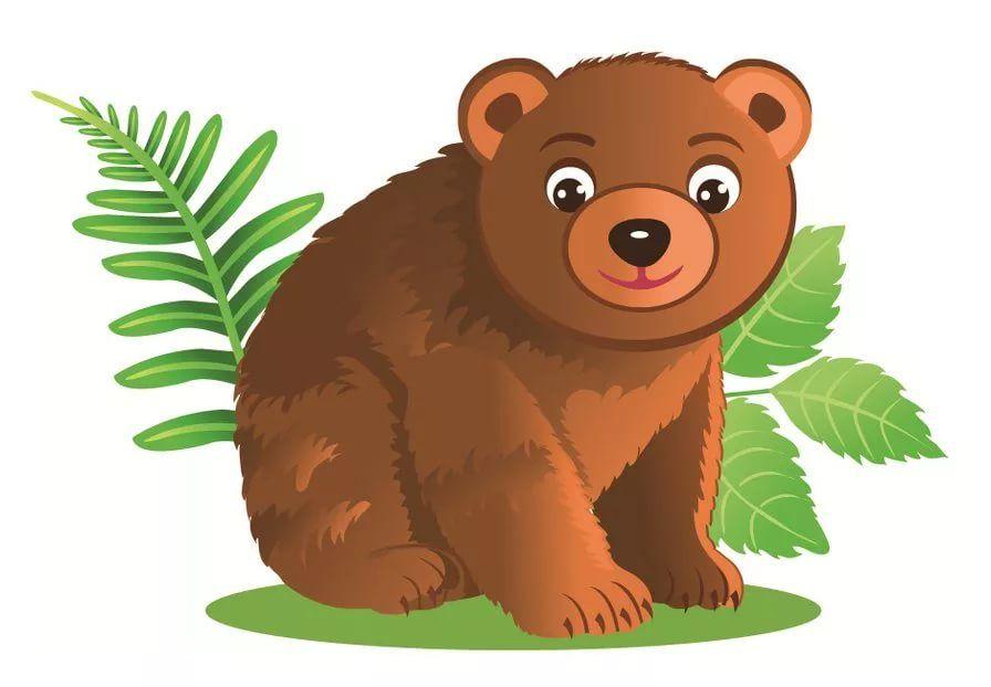 Медведь в картинках для детей, гифки для комментариев