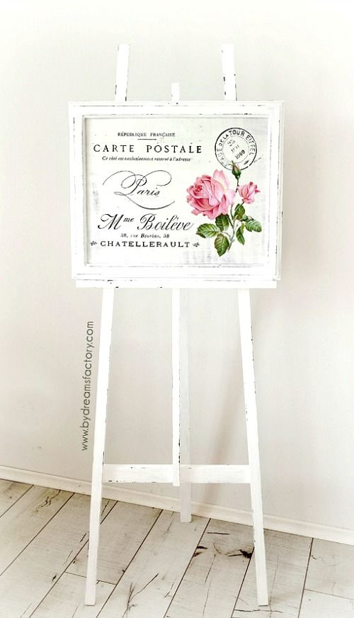 Hand Painted Wooden Easel - Reader Feature  sc 1 st  Pinterest & Hand Painted Wooden Easel - Reader Feature | Wooden easel Graphics ...