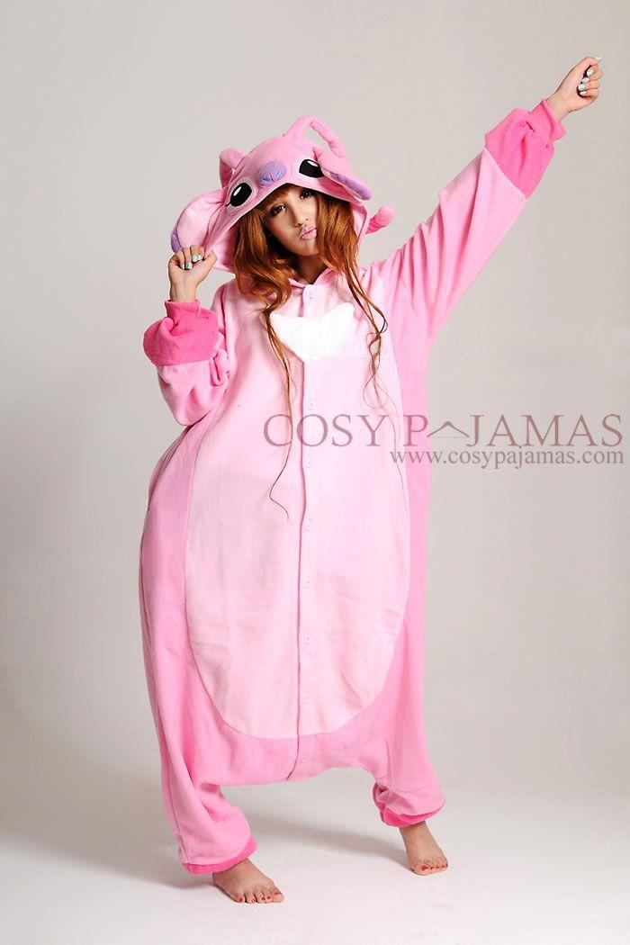 540b4293689 Disney Stitch Angel Adult Onesie Kigurumi Pajamas | Halloween ...