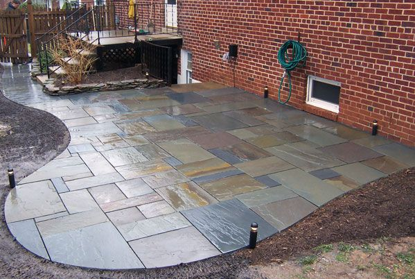 Exceptional Ashlar Style Flagstone Patio With A Cool Pergola And Hot Tub! | Back Yard  Patio Dreams | Pinterest | Flagstone Patio