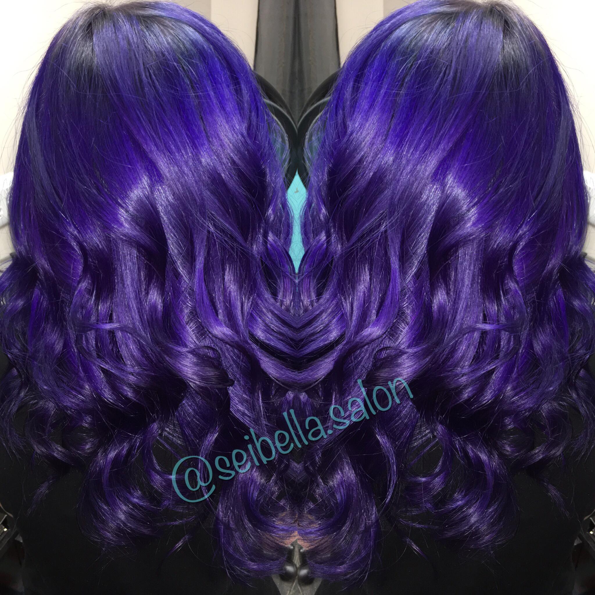 Purple hair shadowed root jesykaleigh joico