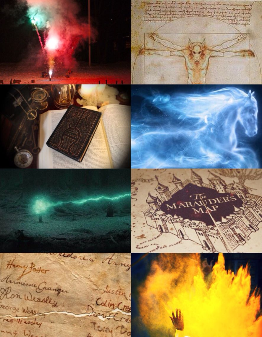 Aesthetic Collage Defence Against The Dark Arts Aesthetic Art