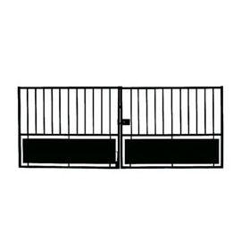 Portail Fer Horizon Noir 300 X H 120 Cm Portail En Fer Portail Castorama