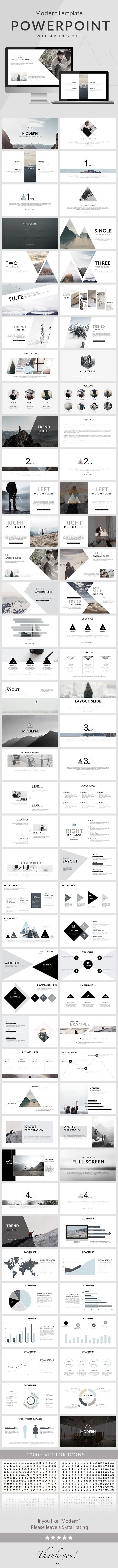 modern - powerpoint template | creative powerpoint, template and, Modern powerpoint