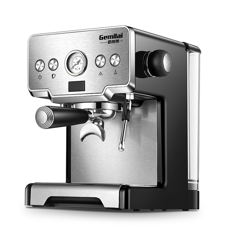 Italian Coffee Machine For Home 15 Bar Stainless Steel ...