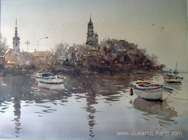 Dusan Djukaric The Painter Of Atmosphere Con Imagenes Arte