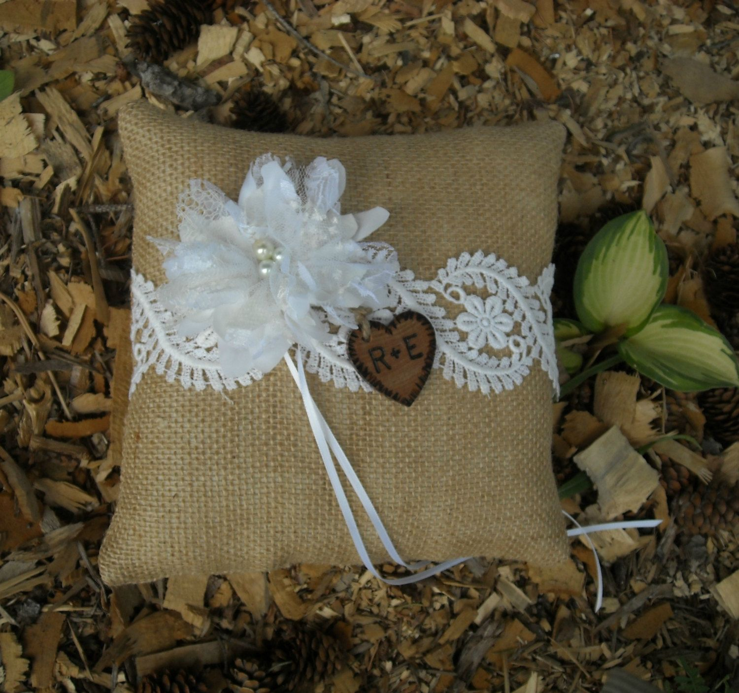 Personalized Burlap Ring Bearer Pillow by MyMontanaHomestead $22.00 & Personalized Burlap Ring Bearer Pillow by MyMontanaHomestead ... pillowsntoast.com