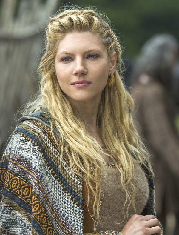 Hairstyles vikings lagertha braids half up half down
