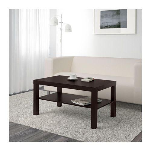 Lack Table Basse Brun Noir 90x55 Cm Table Basse Table Basse
