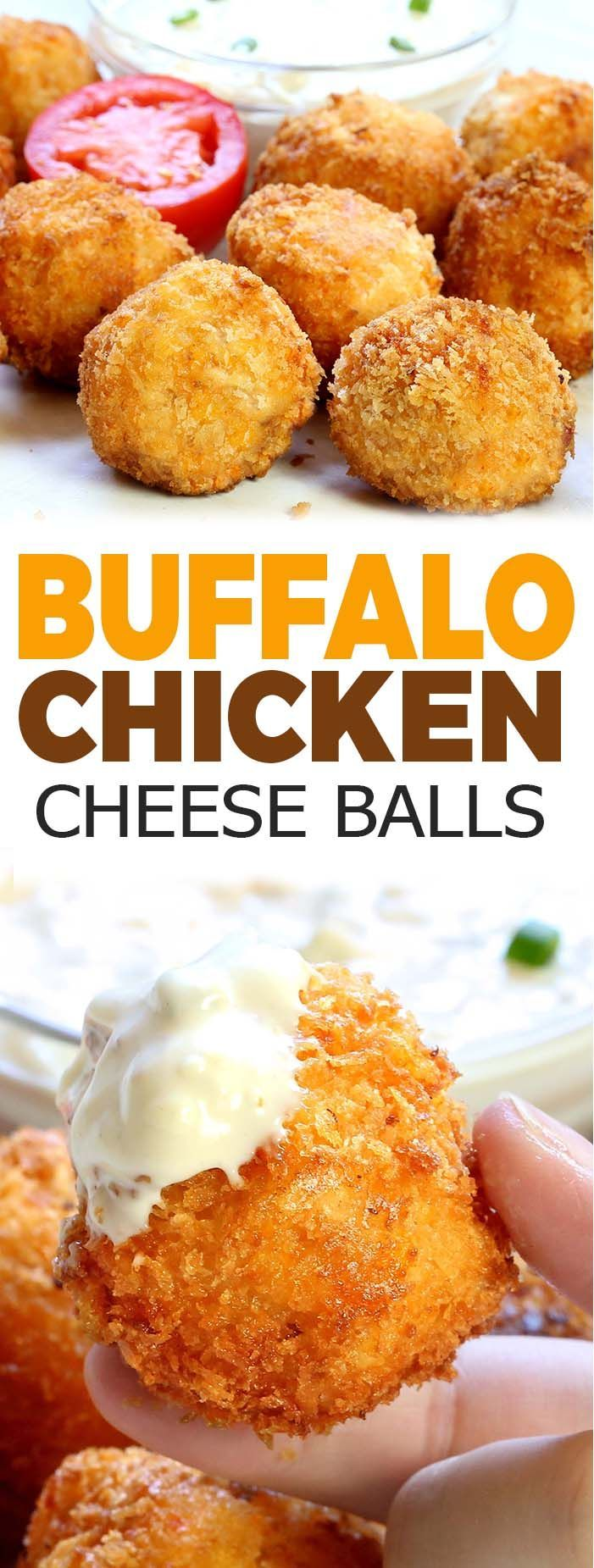 Easy Buffalo Chicken Cheese Balls - Sugar Apron
