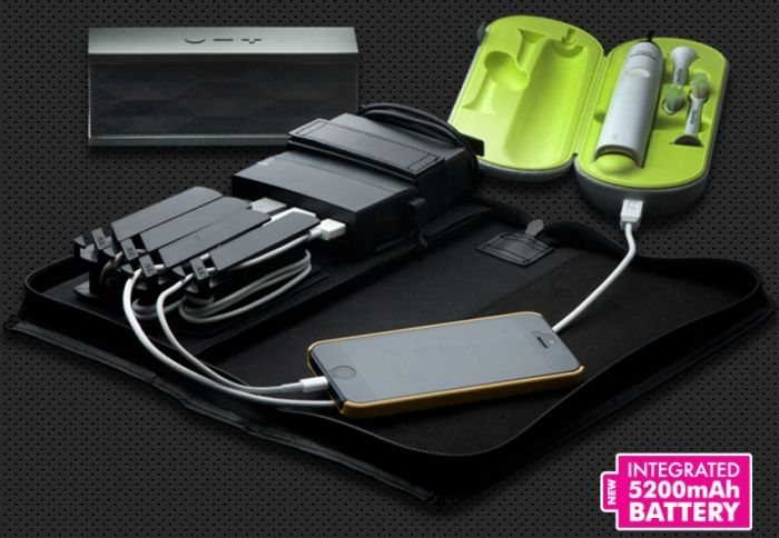 Portable Charging Station with 5200 mAh Battery Pack
