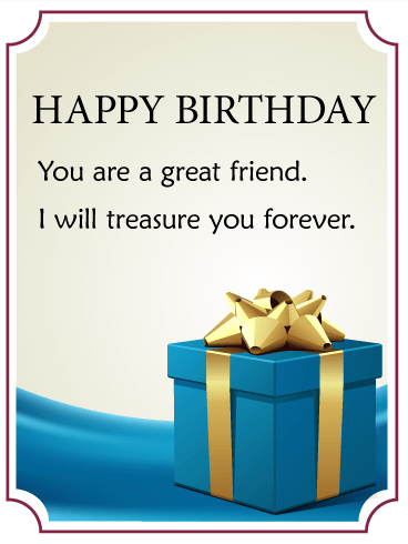 You are a great friend birthday gift box card the best present you are a great friend birthday gift box card the best present is the bookmarktalkfo Choice Image