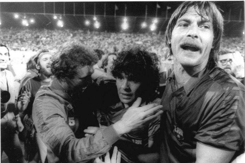 Maradona conquistó la Copa del Rey en La Romareda frente al Madrid