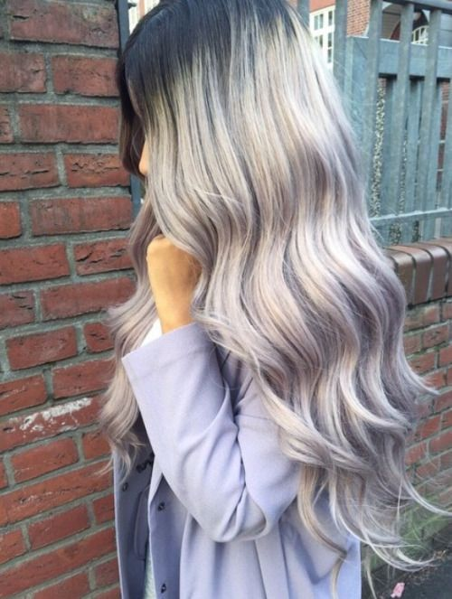 Balayage Dip Dye 8a Remy Grey Ombre Hair Extensions U Part Clip In