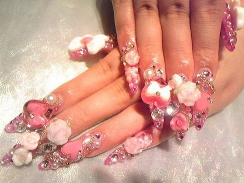 Creative japanese 3d nail art blinged out nails pinterest creative japanese 3d nail art prinsesfo Image collections