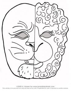 Printable March Lion and Lamb Mask Craft Lion, lamb
