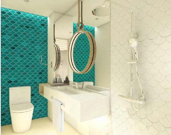 Visschub tegels zijn dé nieuwste trend in wandtegels badkamer