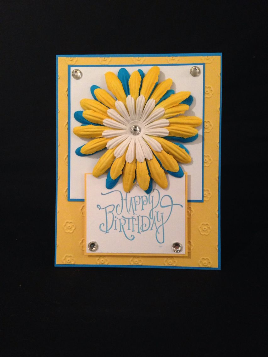A beautiful vibrant birthday card for her handmade