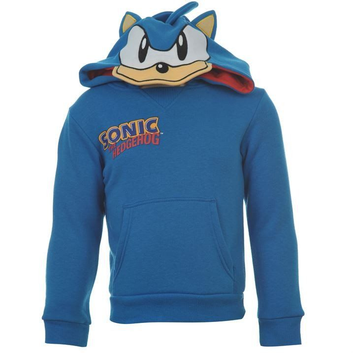 Boys Sonic The Hedgehog Hoodie With Ears Sudaderas Playeras Sonic