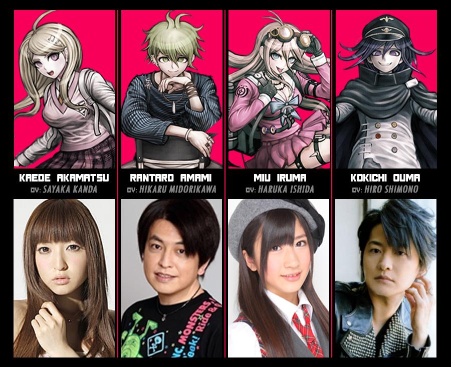 Danganronpa Danganronpa Actors Anime