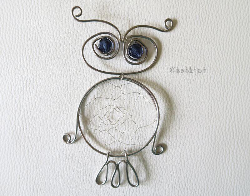 Wire owl tutorial, www.deschdanja.ch | drahthäkeln | Pinterest ...