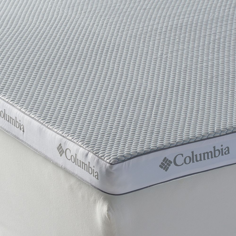 Columbia Super Cool 3 Inch Performance Mattress Topper Blue Mattress Topper Mattress Topper