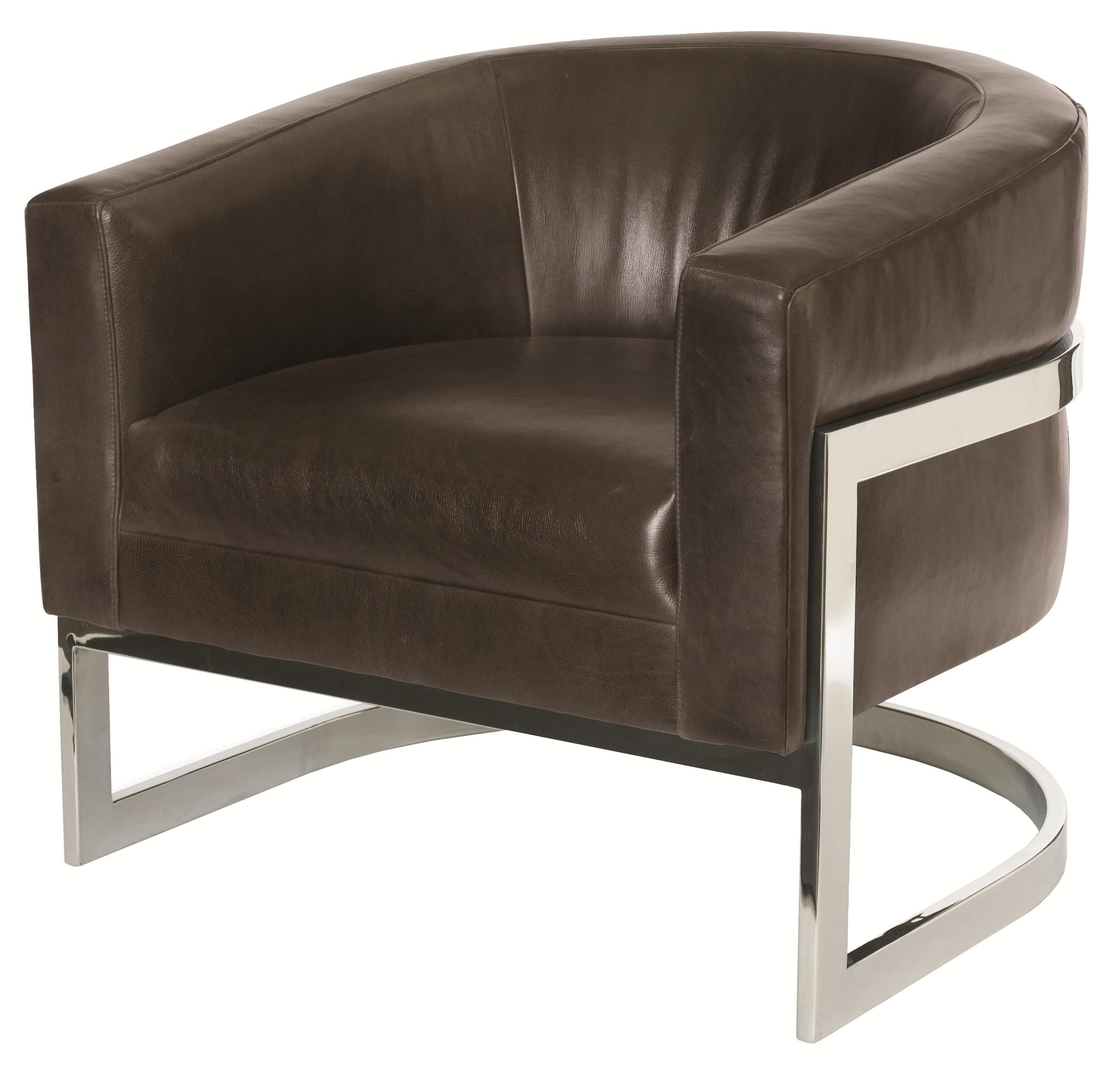 Upholstered Accents Callie Chair With Metal Legs And Modern Barrel