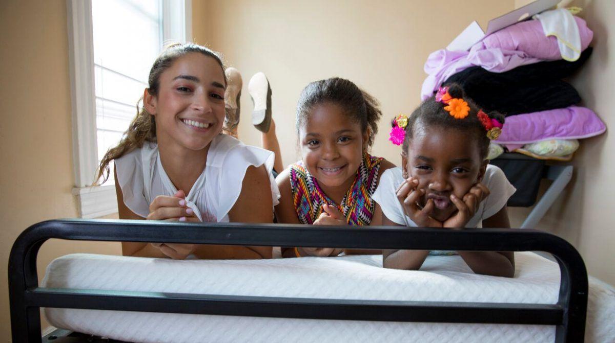 Aly Raisman and Leesa Sleep partnered to donate mattresses