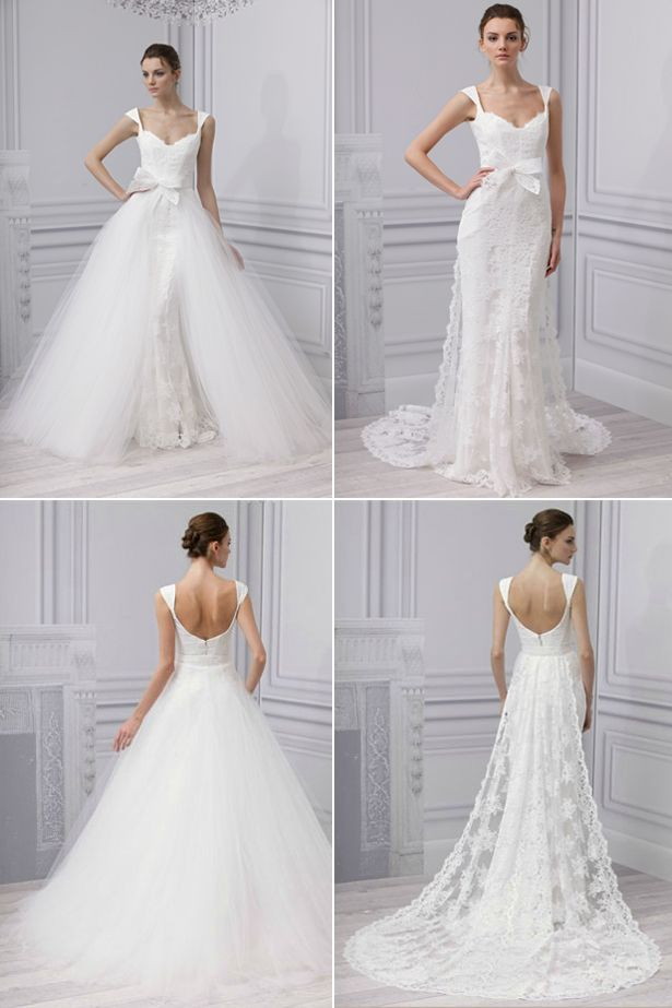 2f6f689a79a66 Convertible Two in One Wedding Dresses | Embrace by Monique Lhuillier -  Spring 2013 | #wedding #weddingdress| Confetti.co.uk
