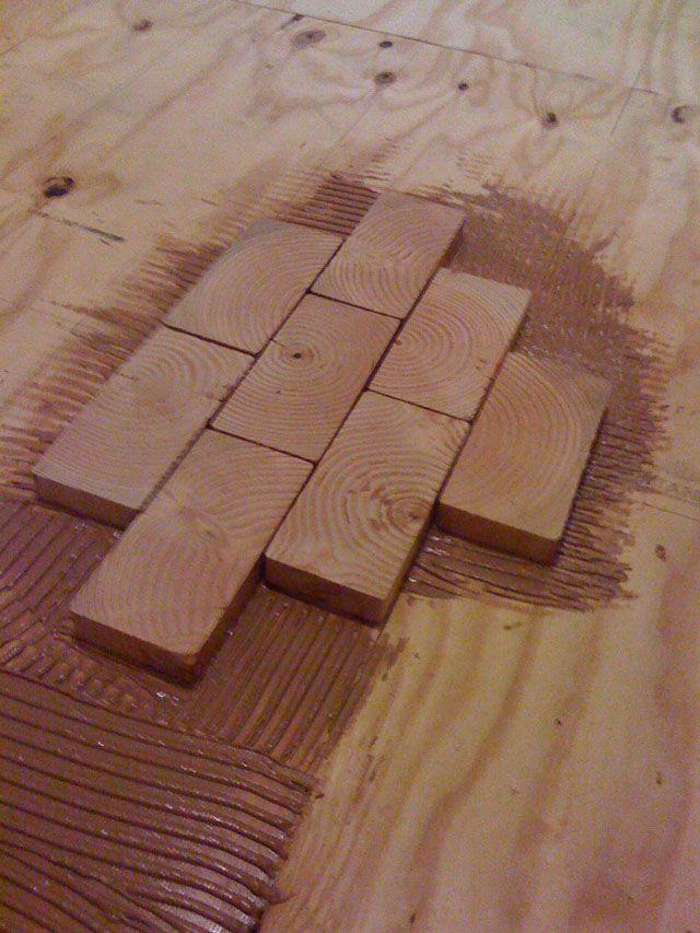 Create A Hardwood Floor Using 2x4 Slivers V Les Pokraska Dereva Otdelka Derevom