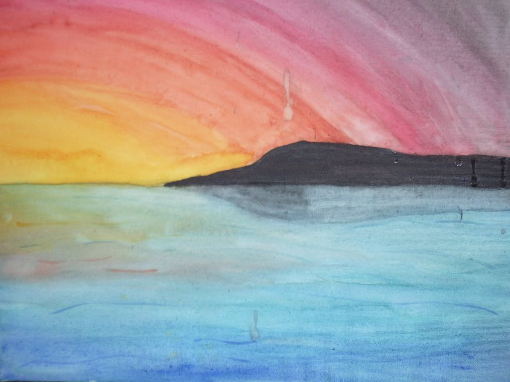 Images for easy watercolor paintings of sunsets boys for Easy watercolor for beginners