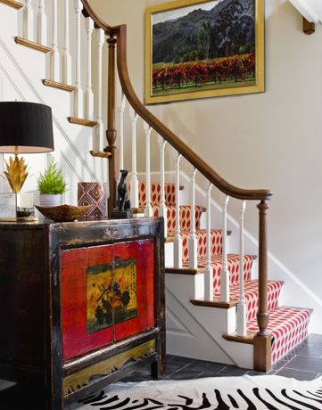 Best Brightly Colored Runner On Stairs Stairs Design Decor 400 x 300