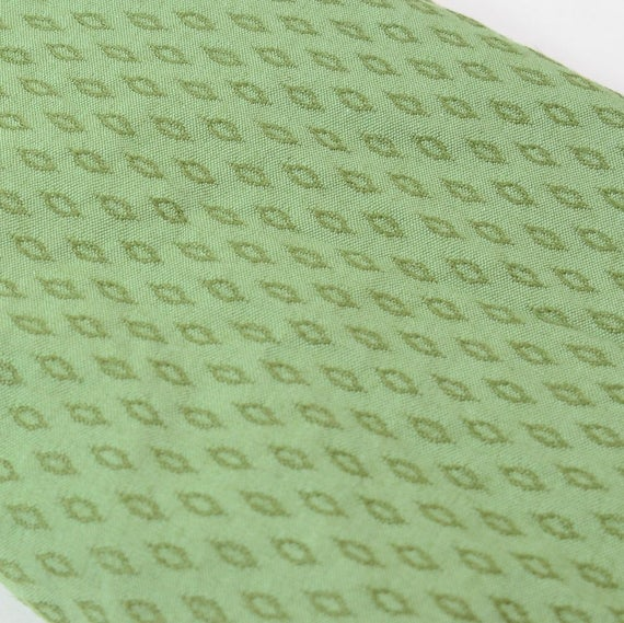 Vintage Upholstery Fabric 1940s 1950s Sage Green Cotton Jacquard