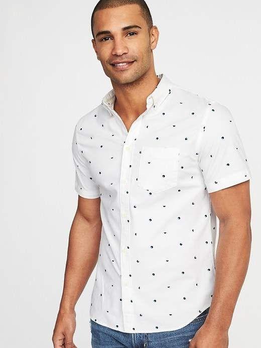 348160d2ef1 Old Navy Slim-Fit Built-In Flex Everyday Oxford Shirt for Men ...