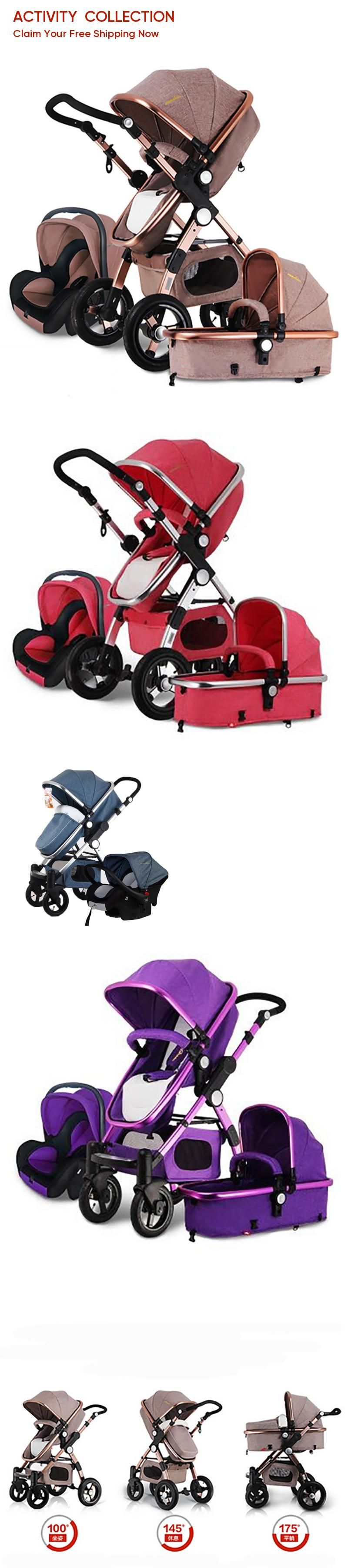 European Baby Stroller 3 in 1,Baby Pushchair 3 in 1,High