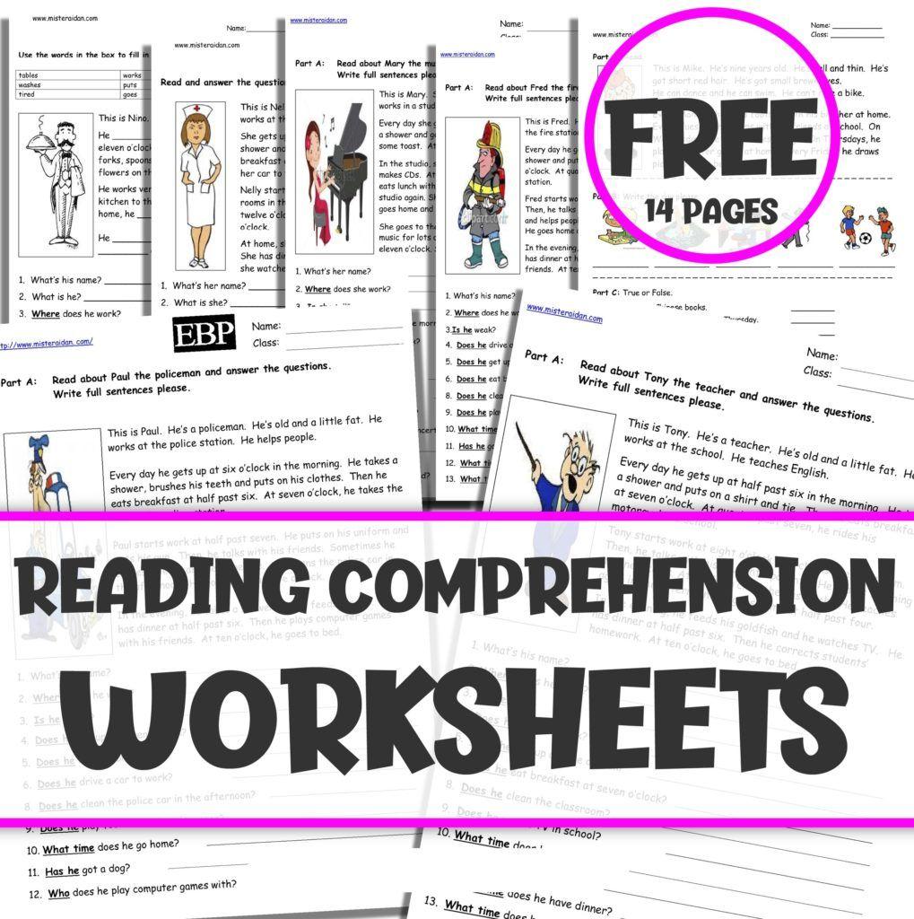 Free Reading Comprehension Worksheets Free Reading Comprehension Worksheets Reading Comprehension Worksheets Comprehension Worksheets [ 1024 x 1019 Pixel ]