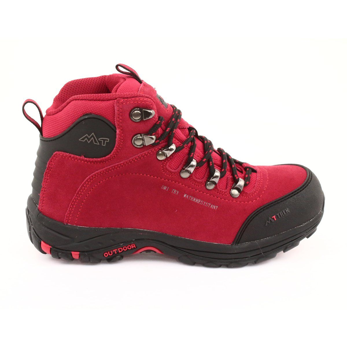 Trapery Z Membrana Mttrek 034 Red Czarne Czerwone Womens Athletic Shoes Trekking Shoes Black And Red