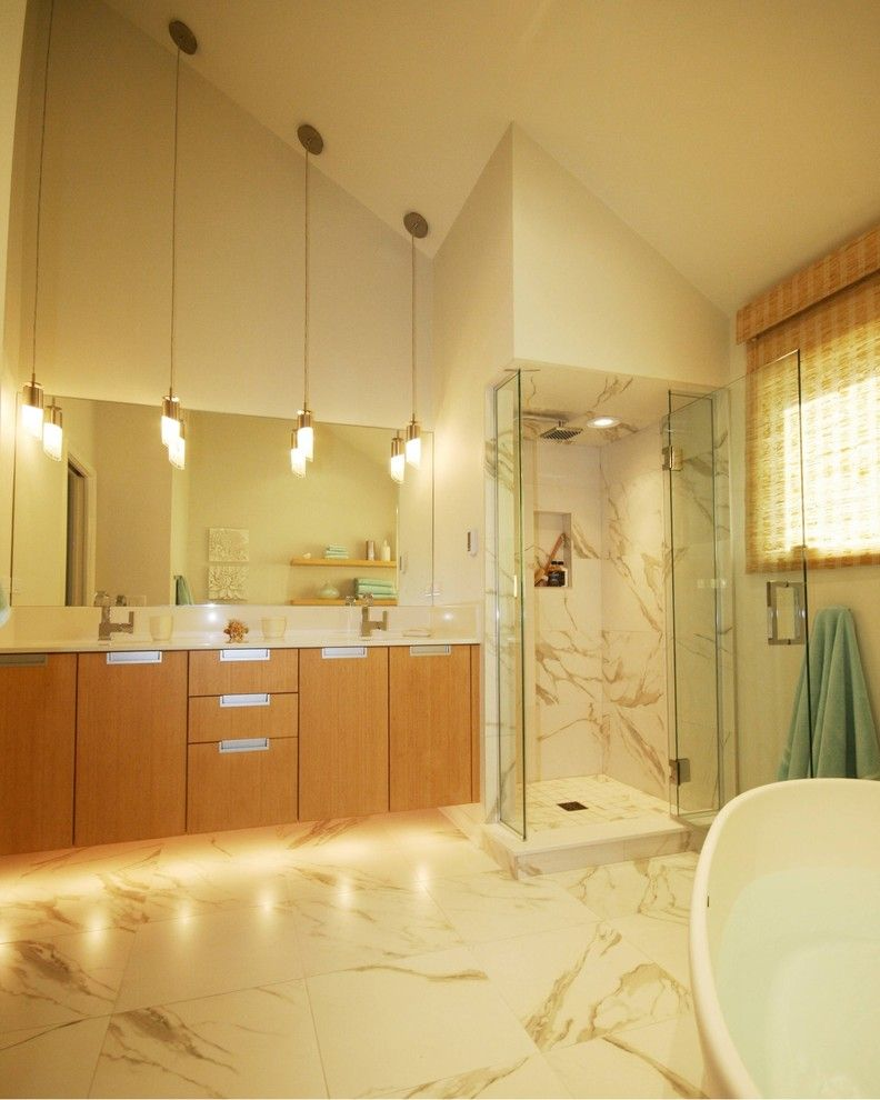 Lighting For Vaulted Ceilings Bathroom Modern With Appliances